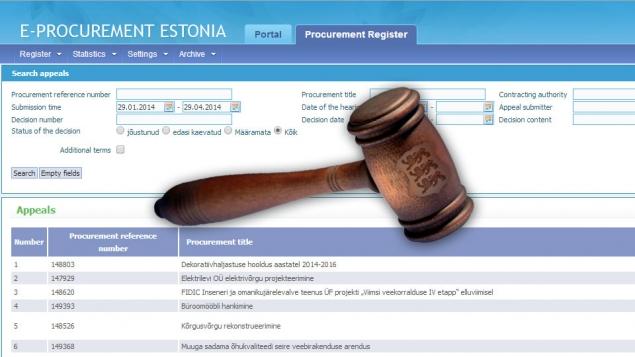 E-procurement Register